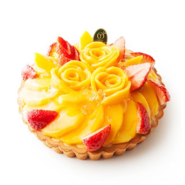 華やかな席への手土産にも<br>マンゴーのバラが咲き誇るタルト