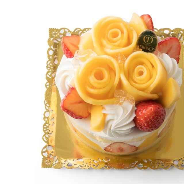 始まりの季節に似合う華やかなケーキ<br>「ハピネス~苺&マンゴー」