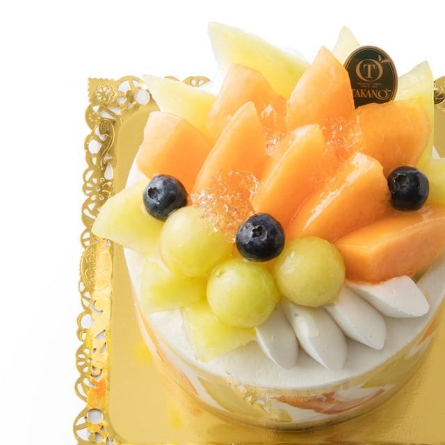 メロンを主役にしたショートケーキ<br>「ハピネス~2色メロン~」